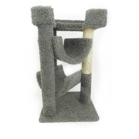 New Cat Condos 3 Level Premier Green Cat Scratch & Lounge