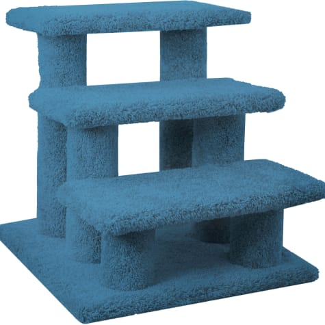 New Cat Condos 3 Level Carpeted Premier Blue Post Stairs