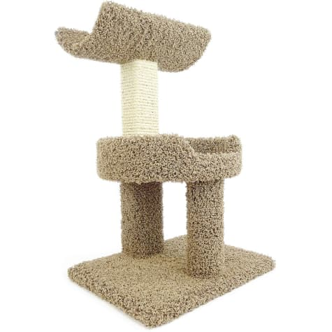 New Cat Condos 2 Level Premier Brown Window Perch for Cats