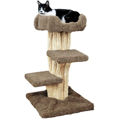 New Cat Condos 1 Level Premier Brown Cat Play Tree
