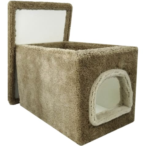 New Cat Condos Premier Brown Cat Litter Box Enclosure