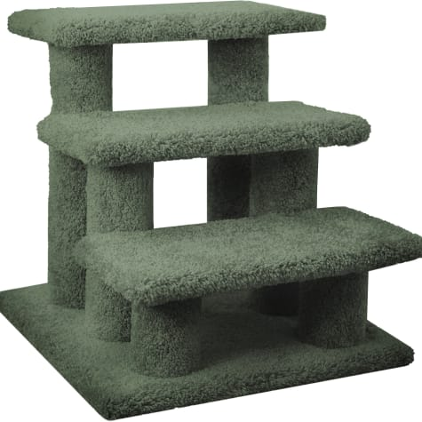 New Cat Condos 3 Level Carpeted Premier Green Post Stairs
