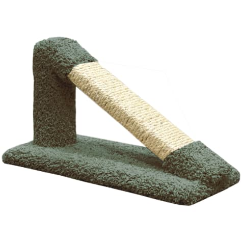 New Cat Condos Premier Green Tilted Scratching Post