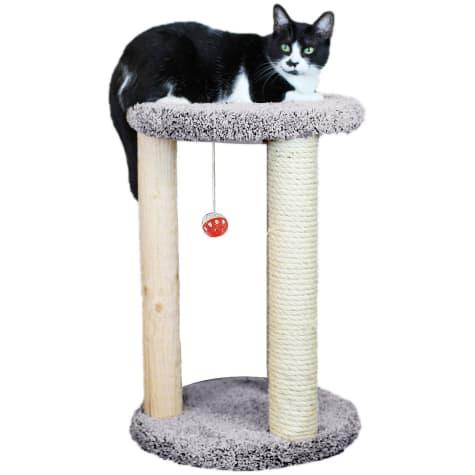 New Cat Condos 1 Level Premier Grey Round Multi-scratcher