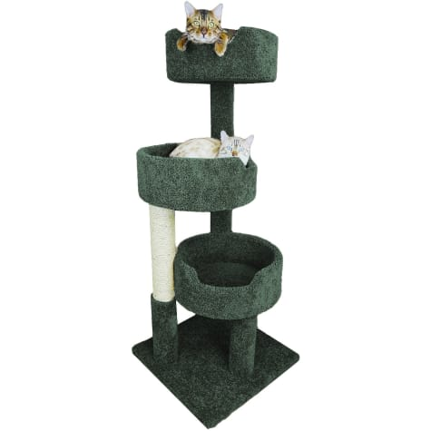 New Cat Condos 3 Level Green Deluxe Kitty Pad