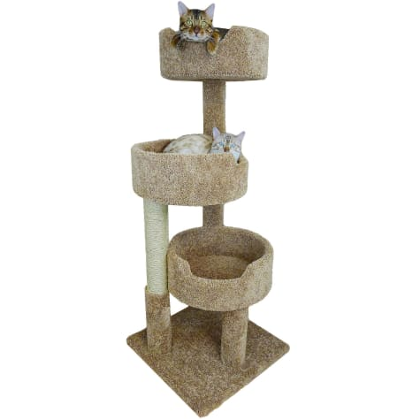 New Cat Condos 3 Level Brown Deluxe Kitty Pad