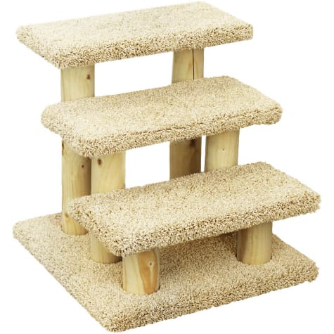 New Cat Condos 3 Level Premier Tan Post Stairs
