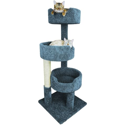 New Cat Condos 3 Level Blue Deluxe Kitty Pad