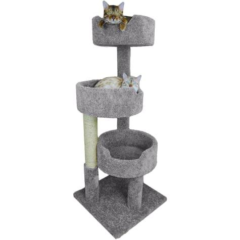 New Cat Condos 3 Level Grey Deluxe Kitty Pad