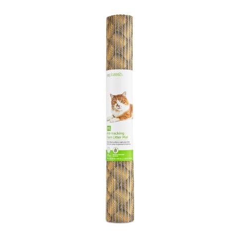 So Phresh Brushstroke-Print Anti-Tracking Foam Cat Litter Mat
