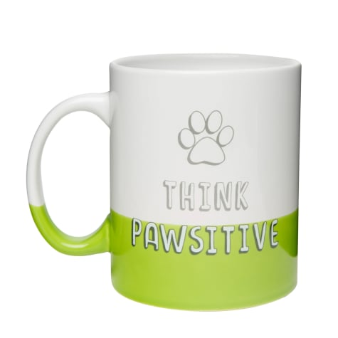 Amici Home Think Pawsitive Ceramic Coffe Mug