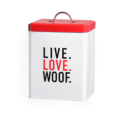 Amici Home Live Love Woof Metal Canister for Pets
