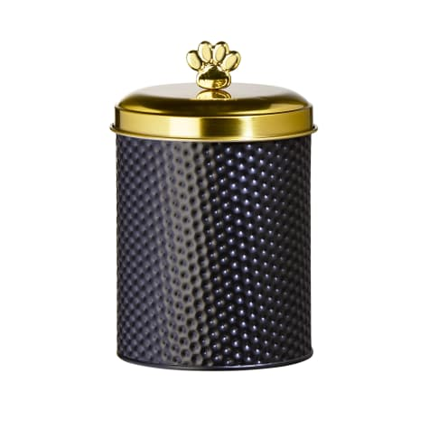 Amici Home Woofgang Round Gold Metal Canister for Pets