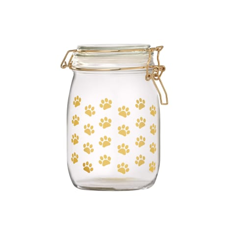 Amici Home Royale Dog Paw Glass Hermetic Preserving Canister