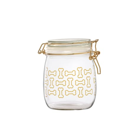 Amici Home Royale Dog Bones Glass Hermetic Preserving Canister