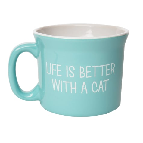 Amici Home Life Is Better With a Cat Ceramic Coffe Mug