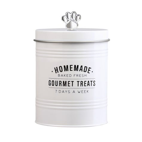 Amici Home Gourmet Treats Round Metal Canister for Pets
