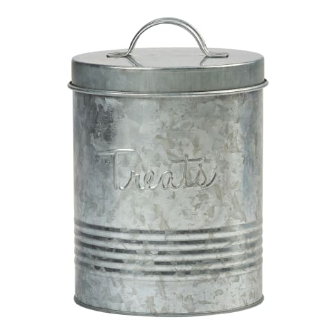 Amici Home Retro Treats Canister Galvanized for Pets