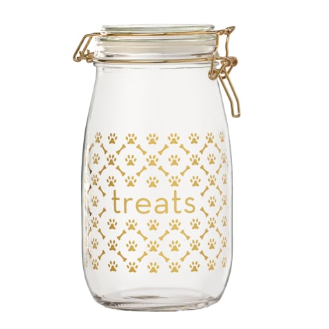Amici Home Royale Dog Treats Glass Hermetic Preserving Canister