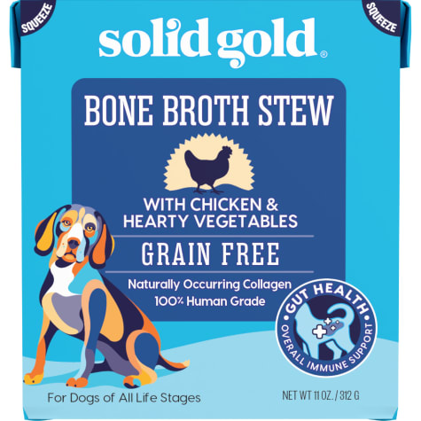 Solid Gold Bone Broth Stew with Chicken & Hearty Vegetables Wet Dog Food