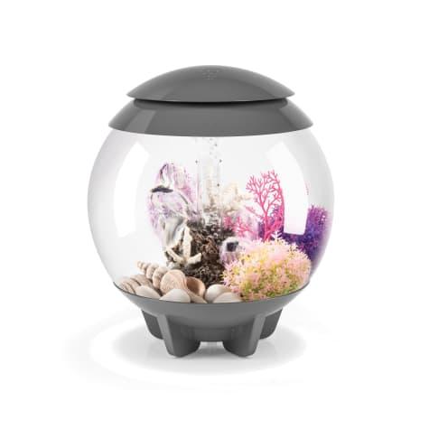 biOrb Halo Grey 4 Gallon Aquarium With Micro Light