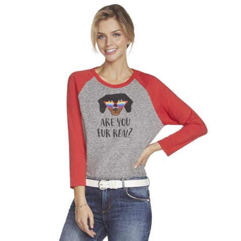 BOBS from Skechers Are You Fur Real Women's Baseball T-Shirt