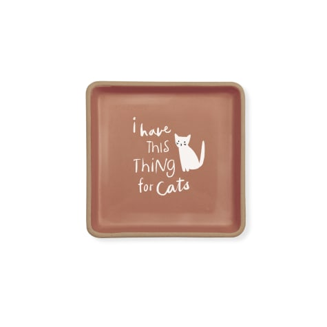 PetShop by Fringe Studio Thing for Cats Stoneware Tray