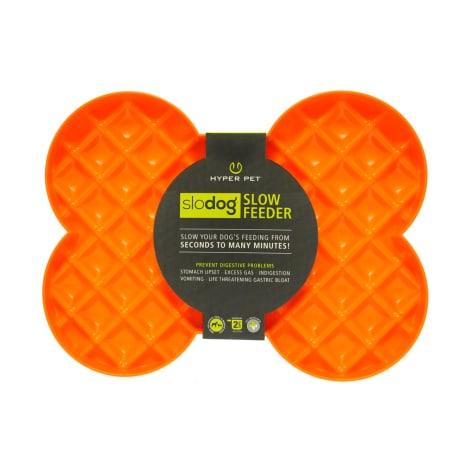 Hyper Pet SloDog Slow Feeder Orange Dog Plate
