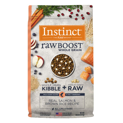Instinct Raw Boost Whole Grain Real Salmon & Brown Rice Recipe Dry Dog Food with Freeze-Dried Raw Pieces