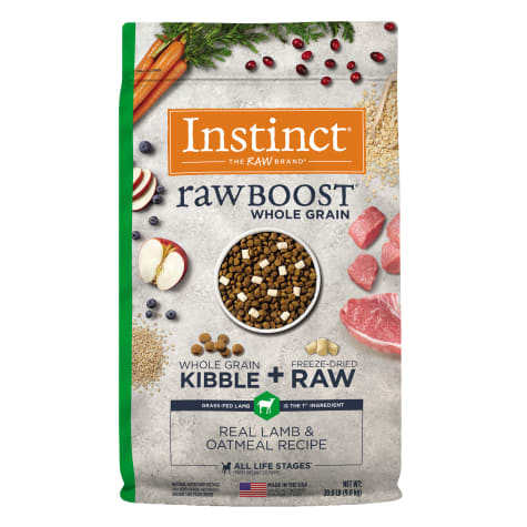 Instinct Raw Boost Whole Grain Real Lamb & Oatmeal Recipe Dry Dog Food with Freeze-Dried Raw Pieces