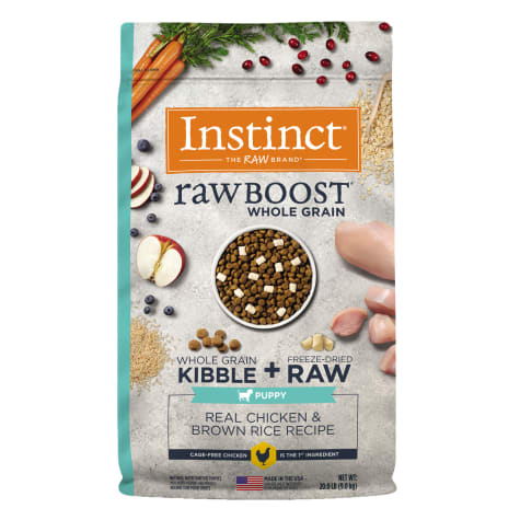 Instinct Raw Boost Puppy Whole Grain Real Chicken & Brown Rice Recipe Dry Food with Freeze-Dried Raw Pieces