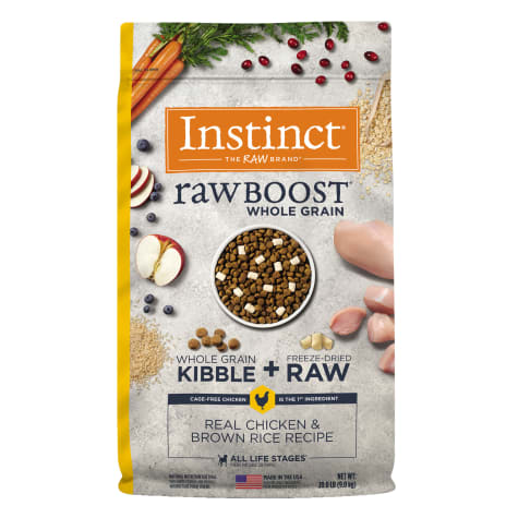 Instinct Raw Boost Whole Grain Real Chicken & Brown Rice Recipe Dry Dog Food with Freeze-Dried Raw Pieces