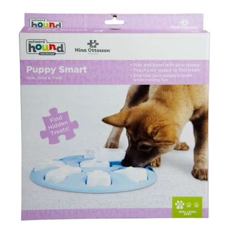 Outward Hound Blue Nina Smart Puzzle Puppy Toy