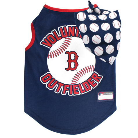 Pets First Boston Red Sox Tank Top With Bandana for Dogs