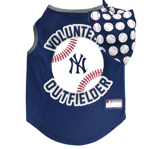 Pets First New York Yankees Tank Top With Bandana for Dogs