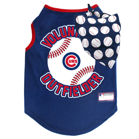 Pets First Chicago Cubs Tank Top With Bandana for Dogs