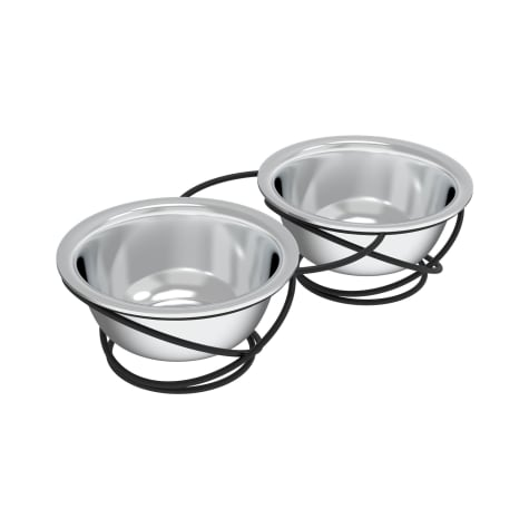 PETMAKER Gray Elevated Stainless Steel Nonslip Rubber Bottom Feeding Station for Pets