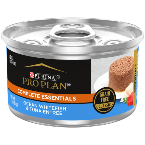 Purina Pro Plan Adult Ocean Whitefish and Tuna Classic Entree Wet Cat Food