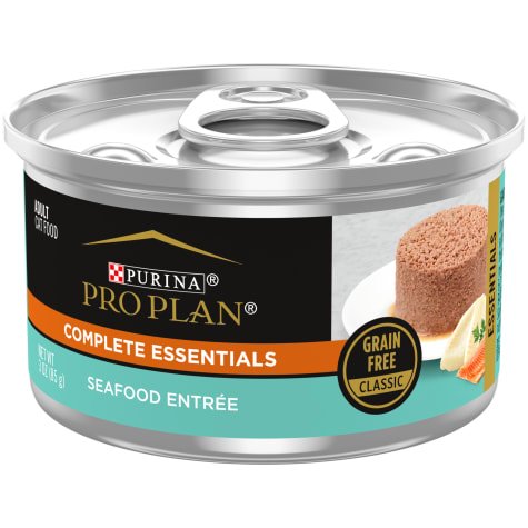 Purina Pro Plan Adult Grain Free Seafood Classic Entree Wet Cat Food