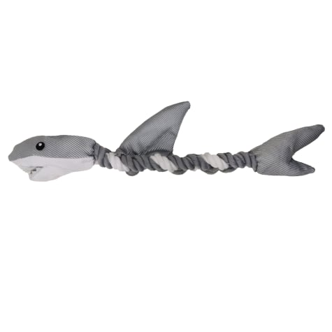 Bark-A-Boo Underwater World Rope Shark Twister Dog Toy