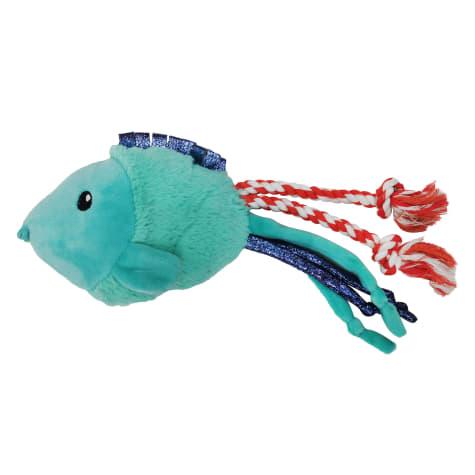 Bark-A-Boo Underwater World Blow Fish Spider-Tail Dog Toy