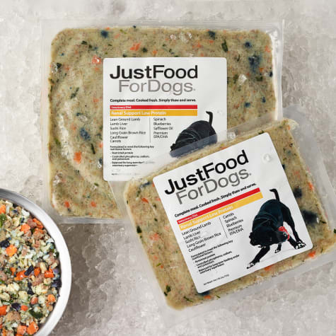 JustFoodForDogs Vet Support Diets Renal Support, Low Protein Frozen Dog Food