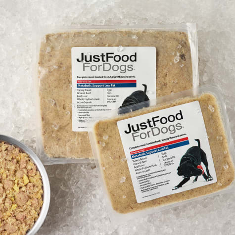 JustFoodForDogs Vet Support Diets Metabolic Support, Low Fat Frozen Dog Food