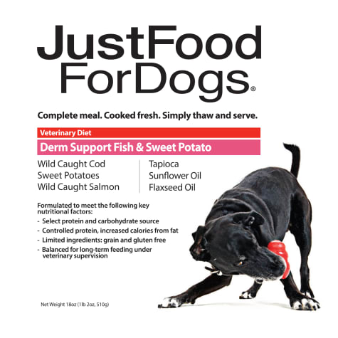 JustFoodForDogs Vet Support Diets Derm Support, Fish Dog Food