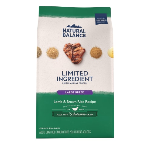Natural Balance L.I.D. Limited Ingredient Diets Lamb & Brown Rice Large Breed Formula Dry Dog Food