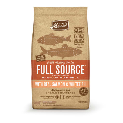 Merrick Full Source Raw-Coated Kibble Real Salmon & Whitefish with Healthy Grains Dry Dog Food
