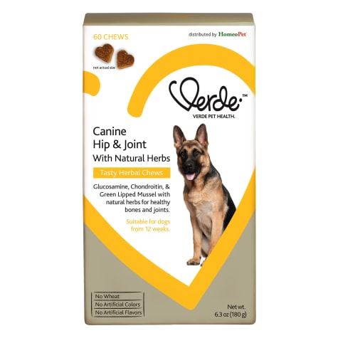 HomeoPet Verde Canine Hip and Joint with Natural Herbs Tasty Herbal Chews for Dogs