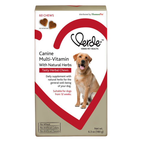 HomeoPet Verde Canine Multi Vitamin with Natural Herbs Tasty Herbal Chews Supplement for Dogs