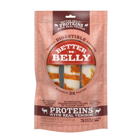 Better Belly Proteins With Real Venison Digestible Large Dog Chew