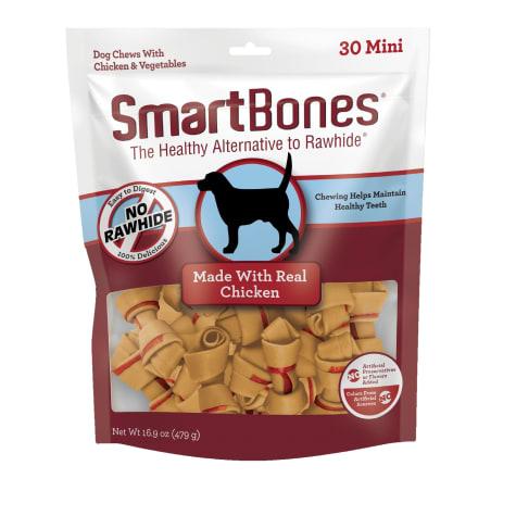SmartBones Mini Bones Vegetable & Chicken No-Rawhide Dog Chews
